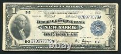 Fr. 713 1918 $1 One Dollar Frbn Federal Reserve Bank Note New York, Ny Vf