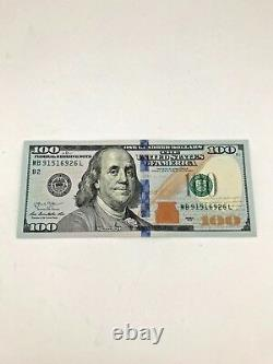 New Uncirculated $100 One Hundred Dollar Bill in Sequential Order US Real Money