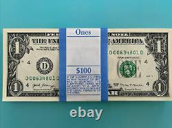 One Stack of 2017 ONE DOLLAR $1 BEP PACK out of BRICK with FIVE RARE STR BILLs