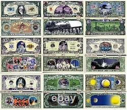One of Each 1200 Different Funny Money Novelty Dollar Bills + FREE SLEEVES