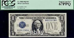 PCGS SUPERB GEM NEW 67 PPQ 1928 Funny Back $1 One Dollar Bill Fr. 1600 D88915709A