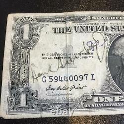 Rare 1935 Hank Greenberg Early Career Signed $1 One Dollar Bill Beckett BAS COA