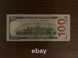 Rare 2009 One Hundred Dollar Bill Star Note $100.00 Jj00531531 Repeater Note