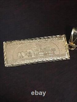 Supreme 100 Dollar Bill 14k Gold Necklace Used / One Hundred Benjamin Franklin