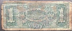 USA 1886 Banknote 1 Dollar Large Size Silver Certificate Schein US One #11887