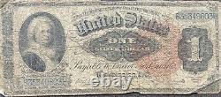 USA 1886 Banknote 1 Dollar Large Size Silver Certificate Schein US One #22074