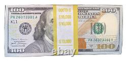 Uncirculated 100 Notes 2017 One Hundred Dollar Bills $100 sequential #s $10,000