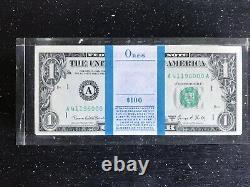 VTG 1969 ONE 1 HUNDRED 1 DOLLAR BILLS LUCITE PAPERWEIGHT UNBOXED Rare Deco VTG