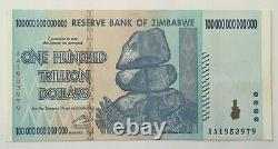 Z$ 100 TRILLION ZIMBABWE DOLLARS 1 x ONE HUNDRED TRILLION BILL UNC ZIM BANKNOTE