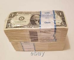 1000 Brand New Non Circulé $1 Un Dollar Bills Bep Brick Bundle (2017)