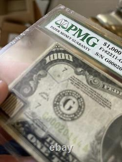 1000 Dollar Bill Une Mille Réserve Fédérale Note Chicago Pmg 25 Light Green $