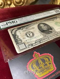 1000 Dollars Bill One Thousand Federal Reserve Note Atlanta Pmg 20 $ Frn