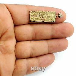 14k Or Jaune Un Million De Dollar Billets Argent Chanceux Pendentif Charme Bijoux 2,3g