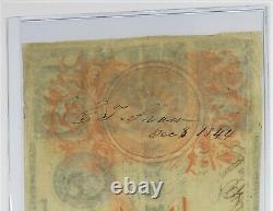 1839 $ 100 $ République Du Texas Redback Cent Dollars Note Bill Devise 27017f