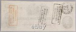 1862 T-41 $100 Cent Dollar Confédéré Monnaie CIVIL War Bill Csa Note