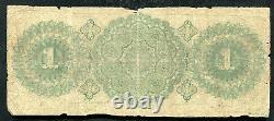 1864 $1 Un Dollar The Oil City Bank Of Oil City, Pa Billet Obsolète Rare