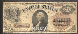 1880 Bill D'un Dollar $ 1 Grande Taille États-unis Note Meilleure Note #34879