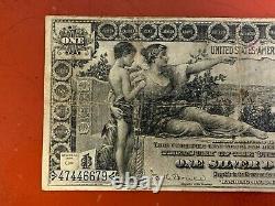 1896 $ 1 Dollar De Certificat D'études En Argent Note