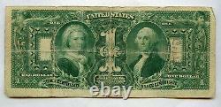 1896 $1 One Dollar Large Size Educational Silver Certificate Bill (en 1896)