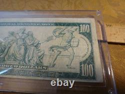 1914 Federal Reserve Note Cent Dollars $ 100 Horse Blanket