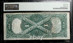 1917 1,00 $ One Dollar Legal Tender États-unis Note Pmg 25 Très Fine En #39