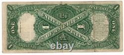 1917 $ 1 Grande Taille U. S. Appel D'offres Légal Note Un Dollar Sceau Rouge Bill