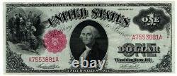 1917 $ 1 Grande Taille U. S. Appel D'offres Légal Note Un Dollar Sceau Rouge Bill Amazing