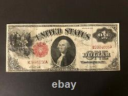 1917 $1 Grande Taille U.s. Legal Tender Note One Dollar Red Seal