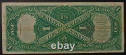 1917 $1 Sciage Billet D'un Dollar D'argent Légal Teehee Burke A21365414a