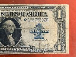 1923 $ 1 Dollar Star Note Grand Certificat D'argent