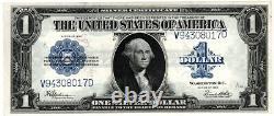 1923 $1 One Dollar Horse Blanket Silver Certificate Grande Taille Note Unc