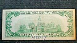 1929 Note Circulée Sur La Réserve De La Fédé Dollaire À Un Cinquante-cinquante-100 $ Projet De Loi