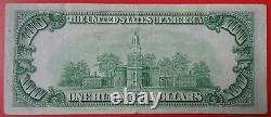 1934 $100 Bill St. Louis H District Federal Reserve Note Old One Hundred Dollar