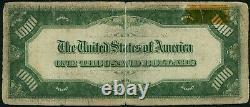 1934 A 1000 $ Un Mille Dollar Minneapolis Réserve Fédérale Note Fr#2212i