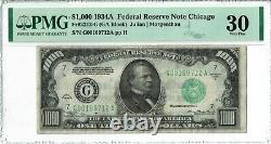 1934a $1000 Chicago Pmg Graded 30 One Thousand Dollar Bill G00169712a
