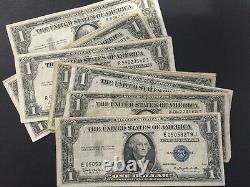 1935 & 1957 One Dollar Bills Clean Circulated Silver Certificate Note Lot De 100