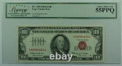 1966 $100 $ Cent Dollars De Note Juridique D'appel D'offres Projet De Loi Fr. 1550 Héritage 55 Ppq (a)