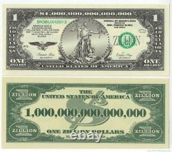 1.000 Zillion (1000 / Mille) Dollar Novelty Bills Lot De Gros