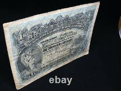 1er Juillet 1913 $ 1 Dollar Hong Kong Banknote Hsbc Shanghai F Grade Hongkong