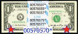 2006 $1 One Dollar Bill Notes Dallas Star Serials Gem Pack Of 100 Fr. 1933-k