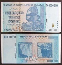 2008 Zimbabwé Un Billet Unique De Cent Milliards De Dollars, Unc, Authentic
