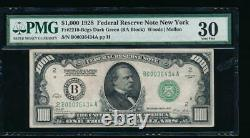 Ac 1928 1000 $ New York One MILL Dollar Bill Pmg 30 Commentaire