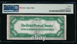 Ac 1928 1000 $ Saint Louis One MILL Dollar Bill Sceau Vert Clair Lgs Pmg 20/c