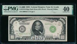 Ac 1928 $1000 Saint Louis One Thousand Dollar Bill Pmg 40