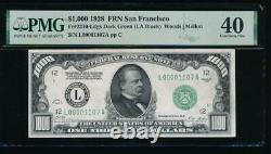 Ac 1928 1000 $ San Francisco One Mille Dollar Bill Pmg 40