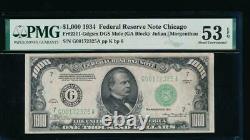 Ac 1934 1000 $ Chicago One MILL Dollar Bill Pmg 53 Epq