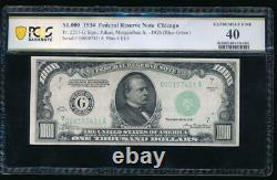 Ac 1934 1000 $ Chicago One Milland Dollar Bill Pcgs 40