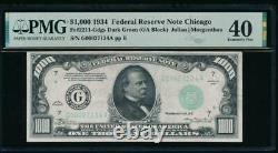 Ac 1934 1000 $ Chicago Un Millier Dollar Pmg 40