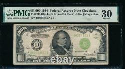Ac 1934 1000 $ Cleveland Lgs One Milland Dollar Bill Pmg 30 Commentaire