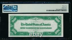 Ac 1934 1000 $ Kansas City Lgs Joint Vert Clair Une Mille Dollar Bill Pmg 35